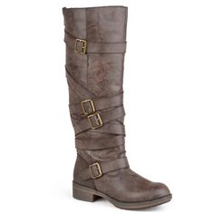 @Overstock - Madden Girl by Steve Madden Women's 'Lilith' Strap Detail Boots - Show off chic and stylish footwear in these boots from Madden Girl. These boots feature PU leather uppers that rise mid-calf and highlight a distressed finish. Straps with buckle accents complete the design of these must-have boots. http://www.overstock.com/Clothing-Shoes/Madden-Girl-by-Steve-Madden-Womens-Lilith-Strap-Detail-Boots/9435218/product.html?CID=214117 $96.99