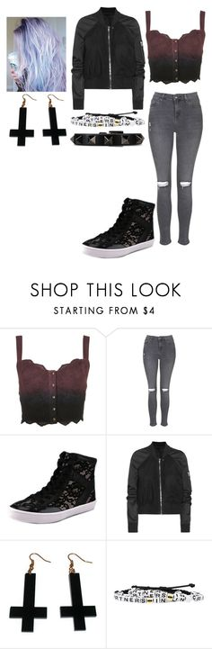 """""""BLACK! #2"""" by madeinchina03 ❤ liked on Polyvore featuring Topshop, Rebecca Minkoff, Rick Owens, Chicnova Fashion and Valentino"""