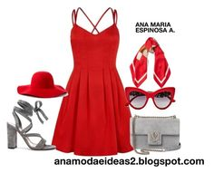 """""""LADY IN RED 2-  28/06/2017"""" by anamariapaula on Polyvore featuring moda, Gianvito Rossi, Alexander McQueen, Dolce&Gabbana, Moschino y Scala"""