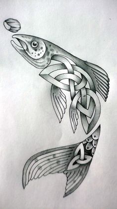 Celtic Fish by Tattoo-Design.deviantart.com on @deviantART