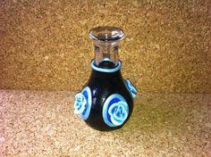 Funky blue/ black vase