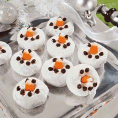 Snowman Mini Donuts -