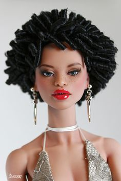 Darlin, enjoy your natural beauty. God designed u to be awesome! Fashion Royalty Dolls, Fashion Dolls, African American Dolls, African American Beauty, Beautiful Black Babies, Poppy Parker, Beautiful Barbie Dolls, Barbie Fashionista, Black Barbie