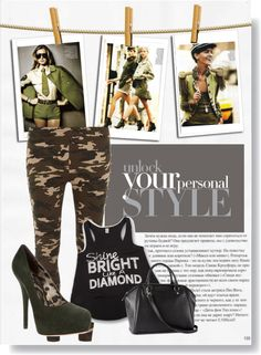 """Military Style"" by sisterskloset on Polyvore"