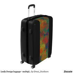 Leafy Design luggage - multiple sizes
