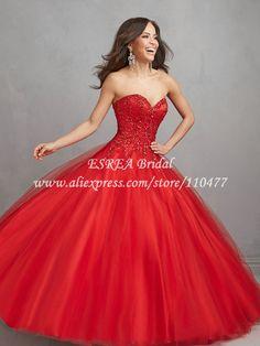 vestidos de 15 años rojos - Buscar con Google