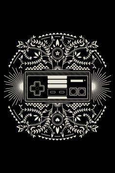 NES Controller Poster    Created by Alexandre Rasamimanana    (via:pixalry) #NES #Nintendo
