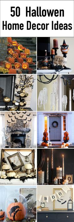 Over 50 AMAZING Halloween Home Decor ideas, DIY's, and FREE Printables.