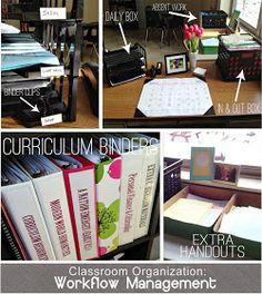 Classroom Organization Ideas Managing Workflow