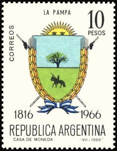 La Pampa Stamp Collecting, Postage Stamps, Stamping, Anniversary, Collection, Seals, Colors, World, Pretty Letters