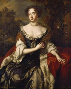 Willem Wissing (1656–1687)  English: Portrait of Queen Mary II, when Princess of Orange Date1685 Mediumoil on canvas Dimensions125.7 × 101.9 cm (49.5 × 40.1 in) Royal Collection