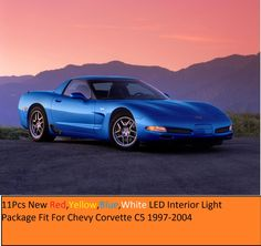 11Pcs New Red LED Interior Light Package Fit For Chevy Corvette C5 1997-2004