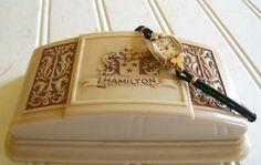 Vintage Hamilton Ladies 10k Gold Black Rope by DivineOrders, $194.00