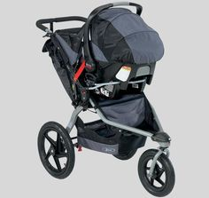Bob stroller with Britax car seat. So happy with my car seat and stroller choice!