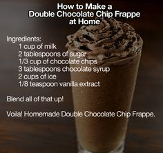How To Make A Double Chocolate Chip Frappe At Home