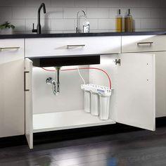 New Kitchen Interior, Luxury Kitchen Design, Kitchen Room Design, Home Room Design, Home Decor Kitchen, Kitchen Furniture, Furniture Design, Under Sink Water Filter, House Arch Design