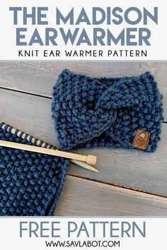 The Madison Ear Warmer Pattern - Knitting Pattern Knitting Ideas Knit 2020 Knitting Trend Easy Knitting Patterns, Free Knitting, Baby Knitting, Knit Scarves Patterns Free, Simple Knitting Projects, Knitted Doll Patterns, Creative Knitting, Knitting Hats, Christmas Knitting Patterns