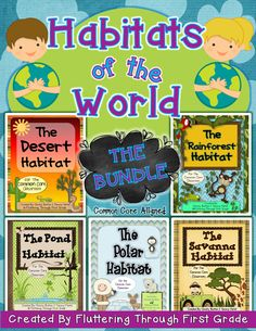 Fluttering Through First Grade: Habitats of the World Bundle...Plus, A Habitat Book Cover Freebie