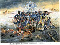 Infantry duel Battle of Kolin, by Gunter Dorn.