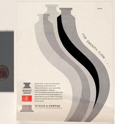 Gouache. Like you need to advertise it... This stuff sells itself! Tom Eckersley, Winsor & Newton (1970)