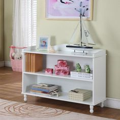 Have to have it. InRoom Designs White Bookcase - $153.33 @hayneedle