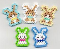 10 modèles de lapin à créer pour Pâques perles à repasser hama