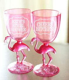 Personalized Flamingo Party Cups by Shaileyann on Etsy, $4.00