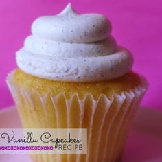 Vanilla Cupcakes- top with a strawberry for a Santa hat for Christmas themed cupcakes?