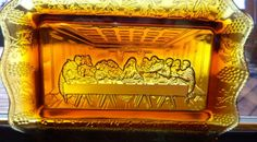 Tiara Glassware Indiana Glass Amber Tray   I have these in many different colors. So nice !