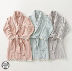 RH TEEN's Hand-Crochet Trim Bath Robe:Hand-crocheted ivory trim lends our bathrobe a vintage edge, while pure Turkish cotton ensures timeless comfort. Luxuriously absorbent, its medium weight is ideal for use year-round. Christmas Wishlist 2018, Birthday Wishlist, Birthday List, Christmas 2017, Christmas Presents, Teen Bath, Bath Girls, Wish List For Teens, Gifts For Teens