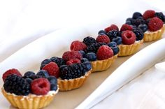 Mixed Berry and Mascarpone Tartlets