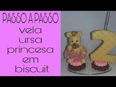 VELA DE  BISCUIT URSA PRINCESA- BY MARCIA BISCUIT