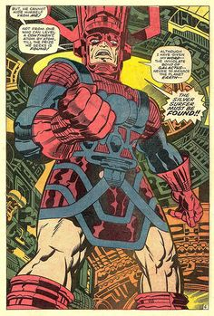 Fantastic Four 75 Galactus splash page 1968 Kirby