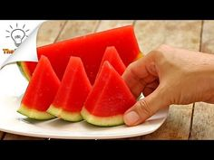 How to Make Watermelon Jello | Thaitrick - YouTube