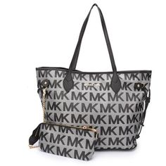 Fantastic And Fashionable Of Michael Kors Jet Set Signature Large Grey Totes Hot Sale Online For You! #fashion