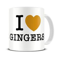 MG001 Magoo I Love Gingers Novelty Coffee Mug – funny gift for gingers
