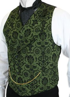 Love a encrusted look with Women Vests. Put on a knit vest over a button-down tube top or unite a undoable shirt with shirts in several colorings. Mode Steampunk, Steampunk Fashion, Green Vest, Vest Outfits, Period Outfit, Gentleman Style, Swagg, Mens Fashion, Gothic Fashion