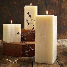 #westelm Linen Texture Candles