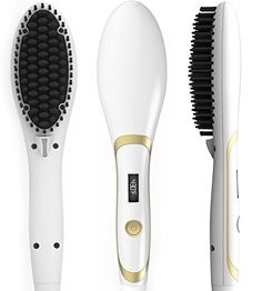 Hair Straightener Brush, Magictec Ceramic Heating Straightening Irons Brush Anti Scald, Static, Detangling and Silky Straight ** You can get additional details at http://www.amazon.com/gp/product/B01GIOMKOK/?tag=passion4fashion003e-20&de=040816193930