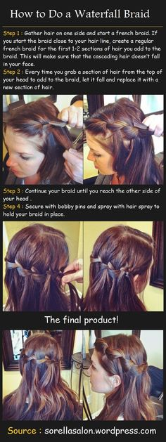 How to Do a Waterfall Braid | Beauty Tutorials