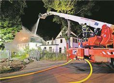 Brand in früherem Ausflugslokal In der Nacht zum Sonnabend stand ein Hinterhaus in Flammen. Die Ursache ist bereits ermittelt.