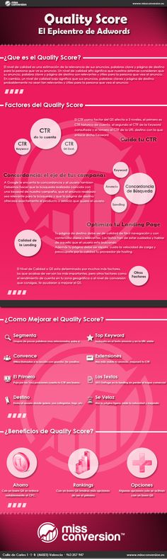 Quality score: el epicentro de Google Adwords #infografia #infographic #seo  We love SEO and infographics. Come visit us in Vienna, Austria or at http://www.ostheimer.at