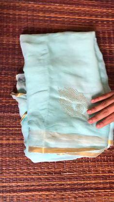 authentic chiffon panwari work saree with blouse Plain Chiffon Saree, Plain Saree, Sari Blouse Designs, Saree Blouse Patterns, Gota Patti Saree, Silk Saree Kanchipuram, Georgette Sarees, Hand Painted Sarees, Saree Look