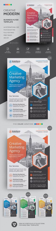 business trifold flyer photoshop psd social media business