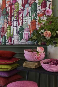 Manuel Canovas - New Collection ॐ ✫ ✫ ✫ ✫ ♥ ❖❣❖✿ღ✿ ॐ ☀️☀️☀️ ✿⊱✦★ ♥ ♡༺✿ ☾♡ ♥ ♫ La-la-la Bonne vie ♪ ♥❀ ♢♦ ♡ ❊ ** Have a Nice Day! ** ❊ ღ‿ ❀♥ ~ Mon Oct 2015 ~ ~ ❤♡༻ ☆༺❀ . Love Wallpaper, Designer Wallpaper, Mural Wall Art, Textiles, Mellow Yellow, Chinoiserie, Tree Decorations, Interior And Exterior, Interior Design