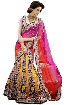 Good news is that #Snapdeal is offering big discount on a beautiful kali ghagra #lehengas.