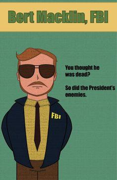 Bert Macklin, FBI on Etsy, $16.75 CAD