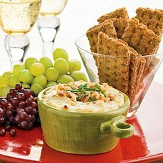 40 Party Appetizer Recipes | Blue Cheese-Bacon Dip Appetizer | SouthernLiving.com