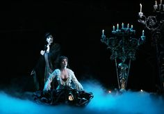 Sandra Joseph as Christine and Hugh Panaro as The Phantom Nashville Broadway, Candle Chandelier, Ballet Girls, Rare Pictures, Phantom Of The Opera, Beautiful Voice, Picture Link, Ny Times, Masquerade