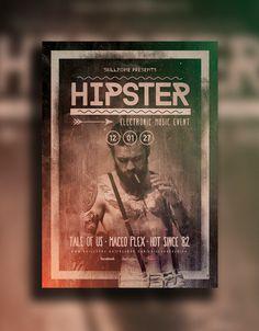 HIPSTER - Minimal flyer design